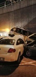 Denizli'de 4 araç birbirine girdi: 4 yaralı