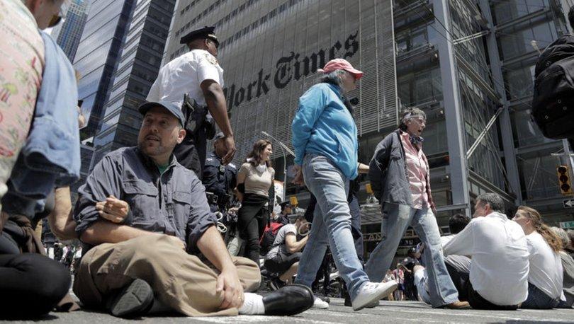 New York Times'a çevreci protesto: 70 gözaltı