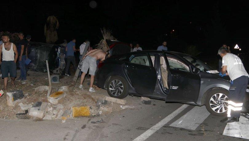Fethiye'de iki otomobil çarpıştı: 7 yaralı