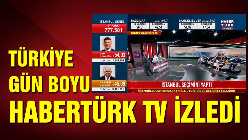 Türkiye gün boyu Habertürk TVyi izledi