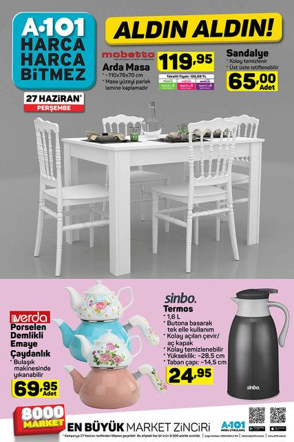 A101 27 Haziran aktüel ürünleri satışa çıkıyor! A101 27 Haziran'da çıkacak olan tüm ürünlerin listesi