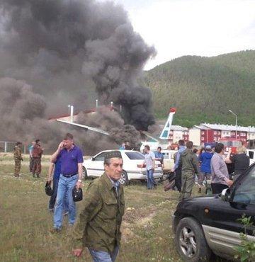 Rusya'da uçak pistten çıktı: 2 ölü, 22 yaralı!