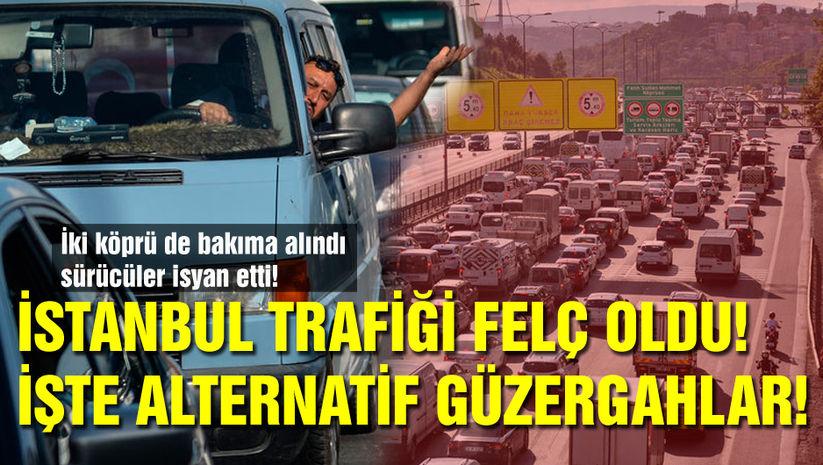 İstanbul trafiği felç! İşte son durum