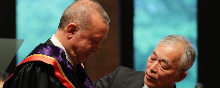Erdoğan'a Japonya'da Fahri doktora