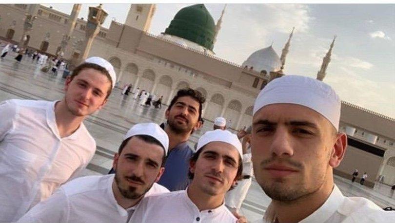 Abdulkadir Ömür ve Merih Demiral Medine'de