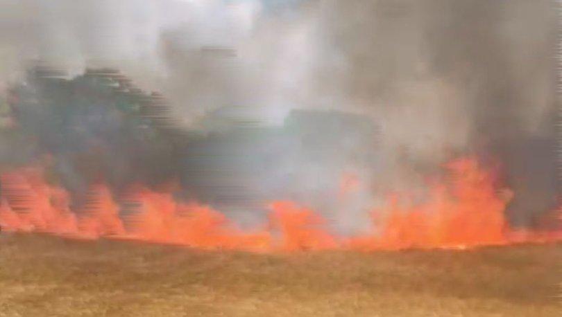 Silivri'de tarlada yangın çıktı! İtfaiye müdahele ediyor
