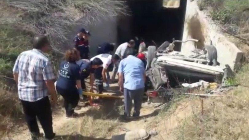 Konya'da otomobil köprüden düştü! Yaralılar var