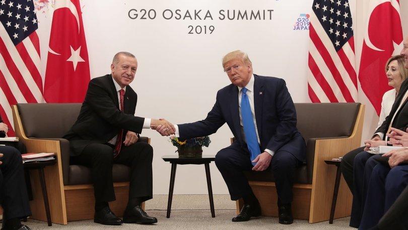 Son dakika! Cumhurbaşkanı Erdoğan-Trump ile görüştü