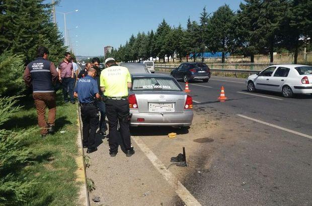 Kaza için olay yerine gelen polis şok yaşadı
