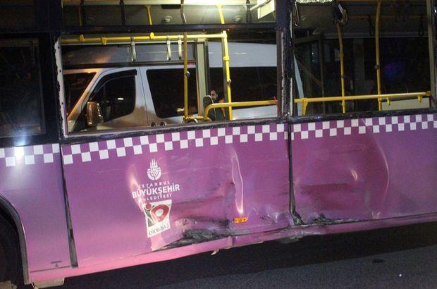Kalp spazmı geçiren sürücü, halk otobüsüne çarptı