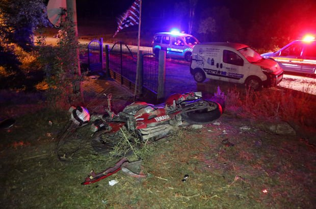 Sivas'ta motosiklet kazası