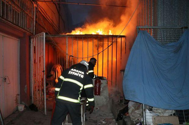 5 Ocak Stadyumu'nda korkutan yangın