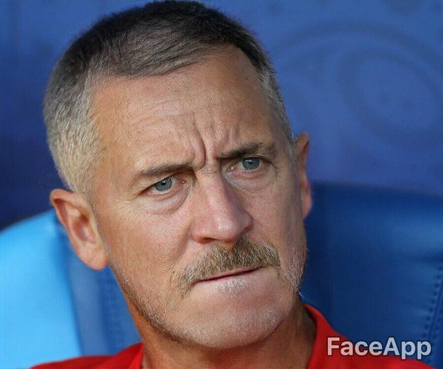 Futbolcuların ve teknik direktörlerin yaşlı halleri