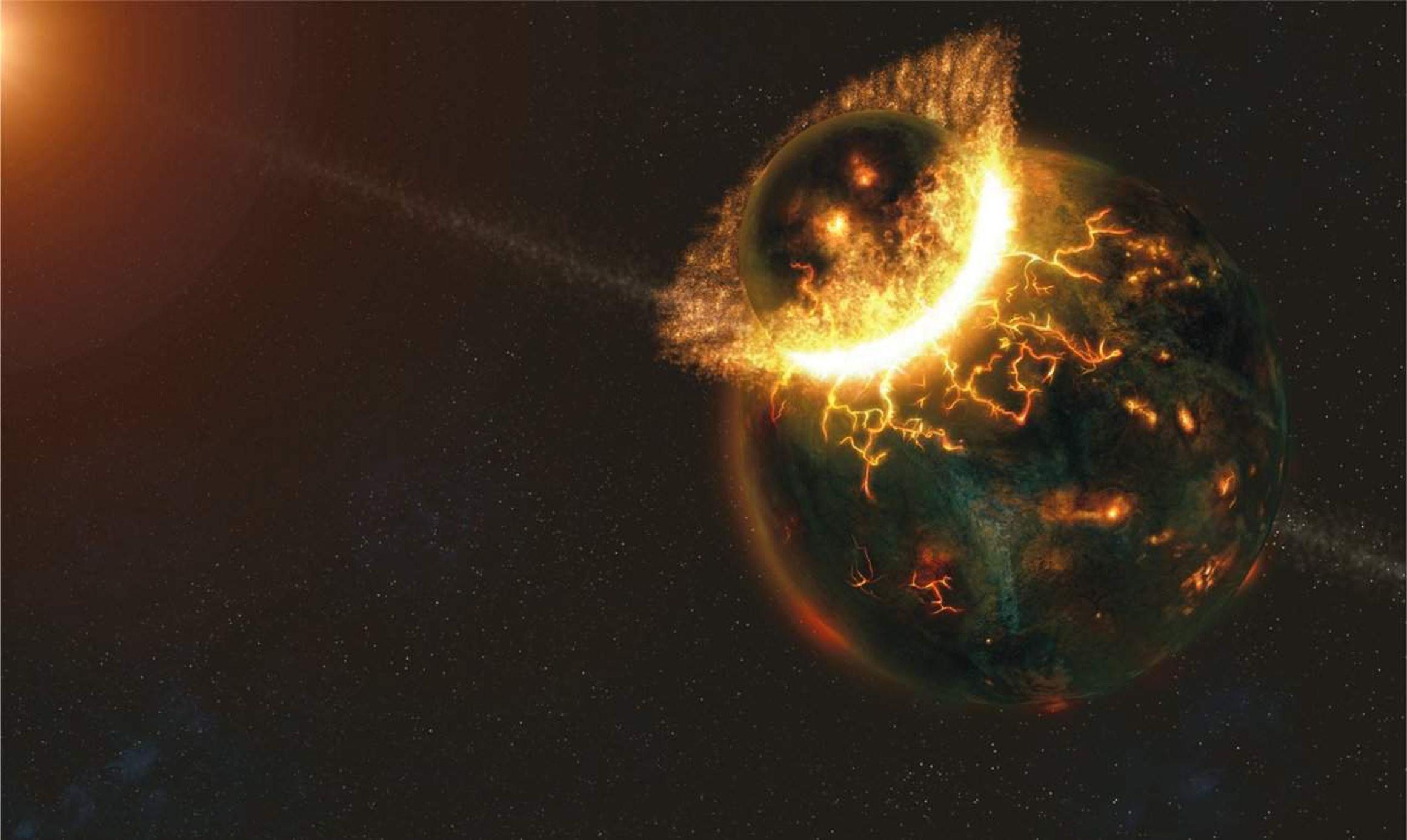 Theia Teorisi'nde Ay'ın oluşumu...