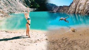 Fotoğraf için akın ediyorlardı! Göl kimyasal çıktı