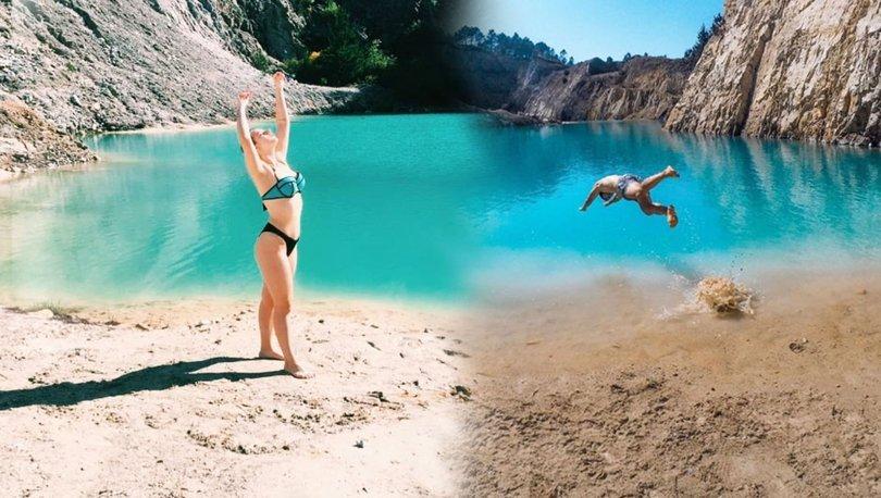 Instagram fotoğrafı için akın ediyorlardı! Göl kimyasal çıktı...