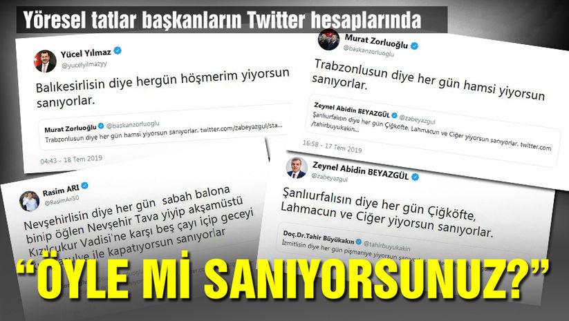 Yöresel tatlar başkanların Twitter hesabında