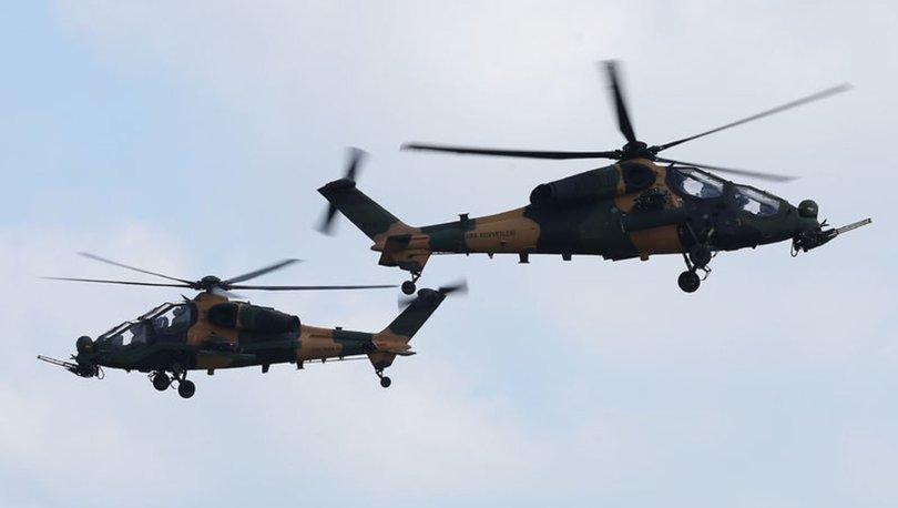 'Atak' helikopterleri KKTC semalarında! - Haberler