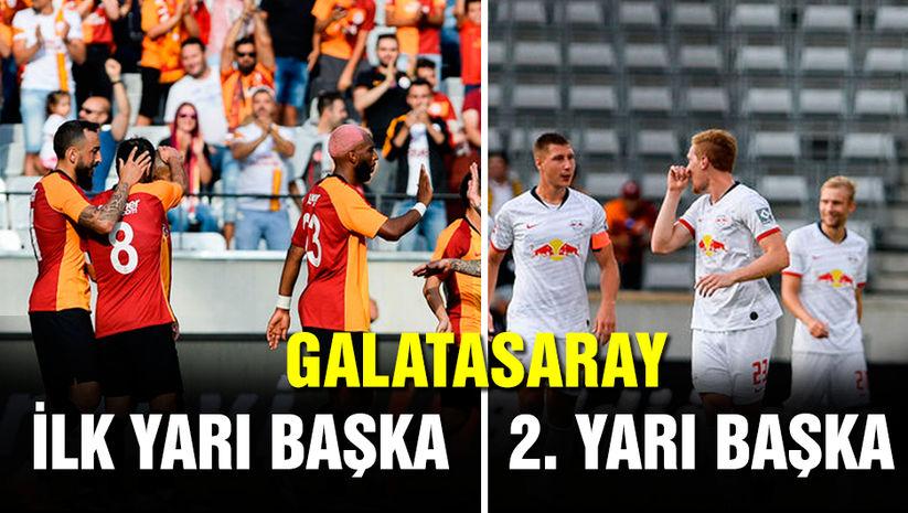 Leipzig Galatasaray maçı: Galatasaray ilk yarı başka ikinci yarı başka!