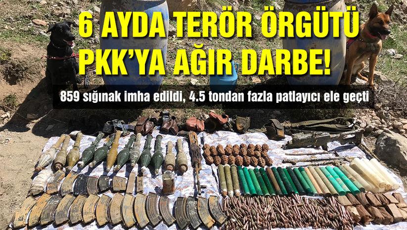 Terör örgütü PKK'ya 6 ayda ağır darbe! - Haberler