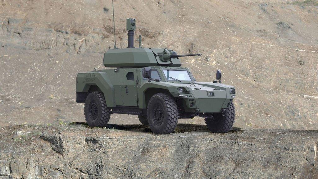 Türkiye'nin ilk elektrikli zırhlı aracı araziye çıktı