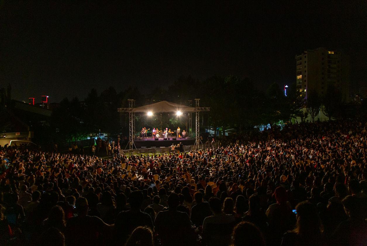 Yeni Türkü, 40'ncı yıl konserlerinden birini de ODTÜ M.D. Vişnelik Çim Amfi'de verdi.
