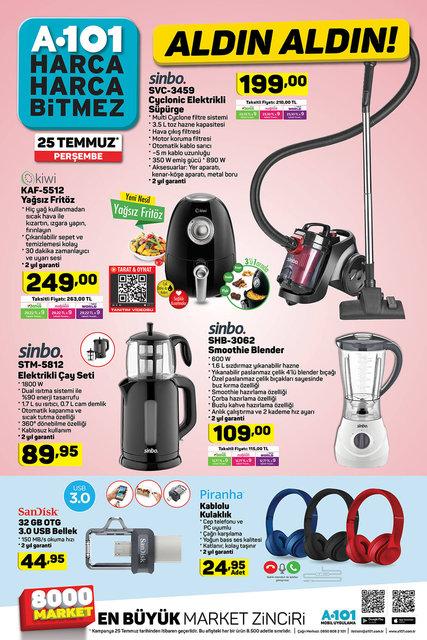 A101 25 Temmuz 2019 aktüel ürünleri belli oldu! A101'de bu hafta hangi ürünler indirimli satılacak?