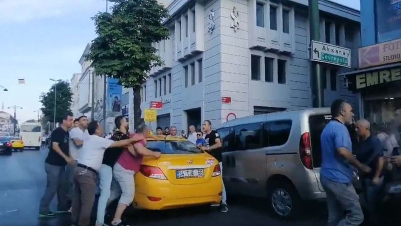 Taksici tartıştığı yolcuya bıçak çekerek saldırdı! - Haberler