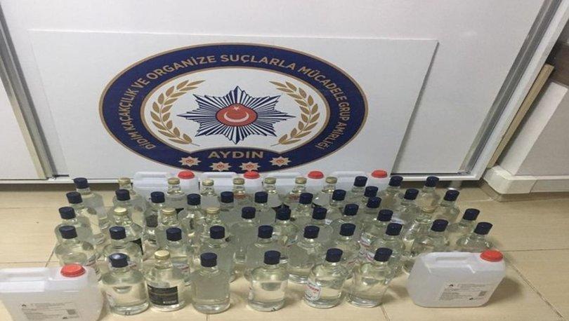Didim'de 80 litre etil alkol yakalandı