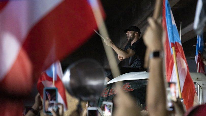 Porto Riko'da yüz binler valinin istifasını istiyor! Ricky Martin protestolara katıldı - Haberler