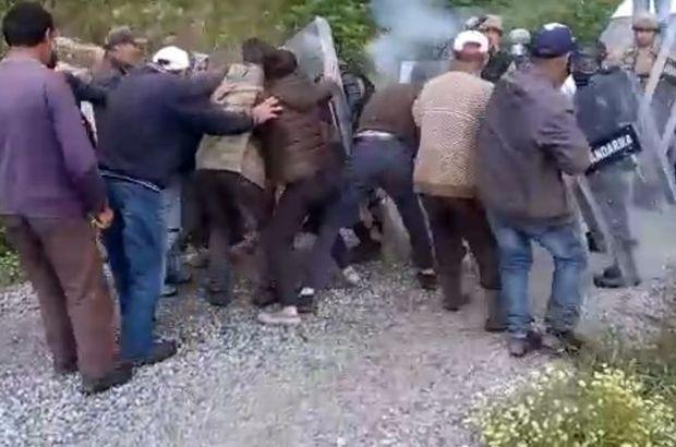 Köylüler ile jandarma arasında yayla yolu gerginliği