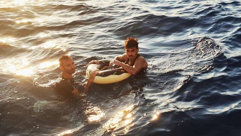 Yunanistan'a yüzerek kaçmaya çalıştılar