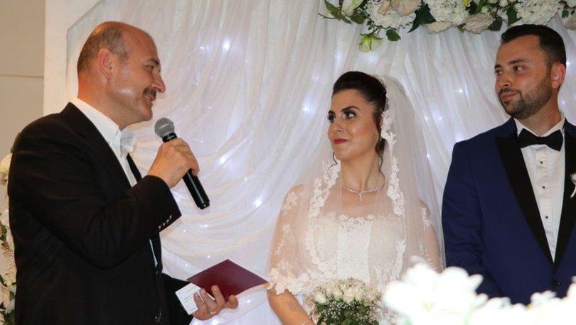 İçişleri Bakanı Süleyman Soylu nikah şahidi oldu