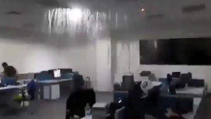 Bebek bezi boruları tıkadı, hastanedeki ofis su altında kaldı