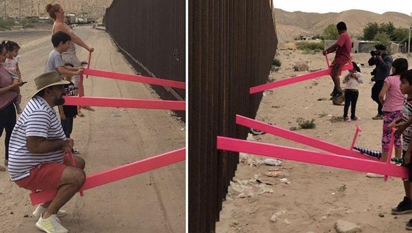 Trump'ın 'sınırına' tahterevalli kurdular