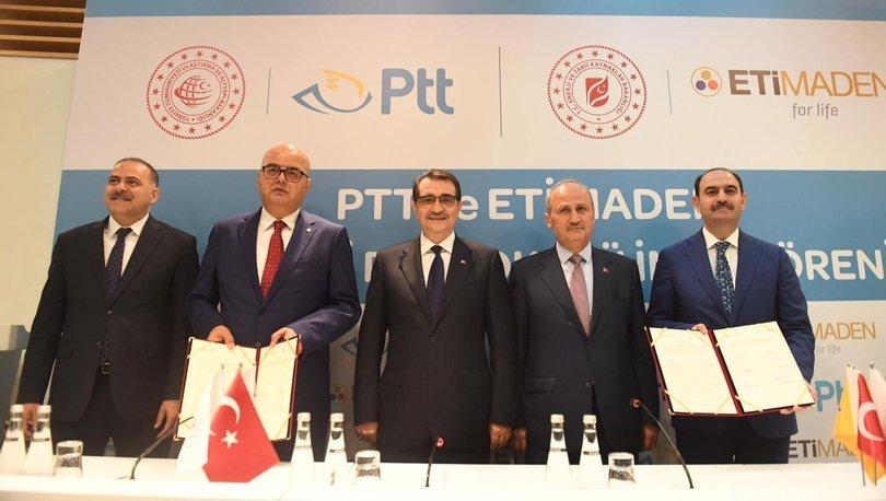 PTT ile Eti Maden İşletmeleri iş birliği