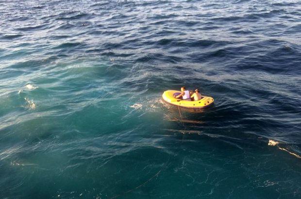 Tatilcilerin lastik bot sefası kabusa döndü!
