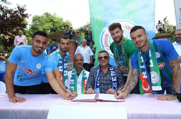 Rizespor'da yeni transferler tanıtıldı