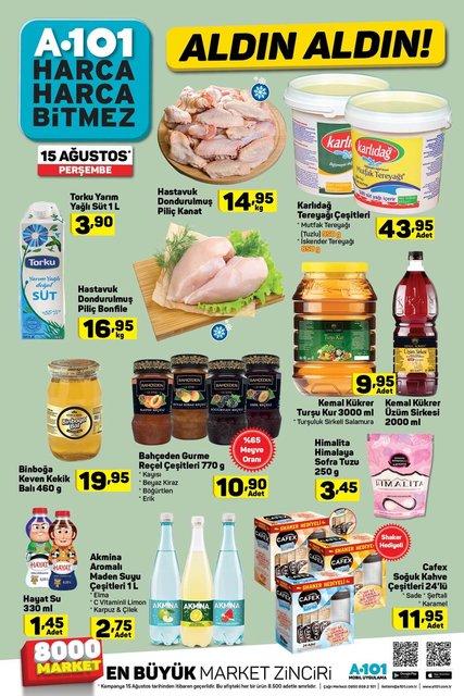 A101 15 Ağustos 2019 aktüel ürünleri satışa çıkıyor! A101'de yarın hangi ürünler satılacak?