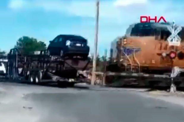 ABD'de tren TIR'ı biçti!