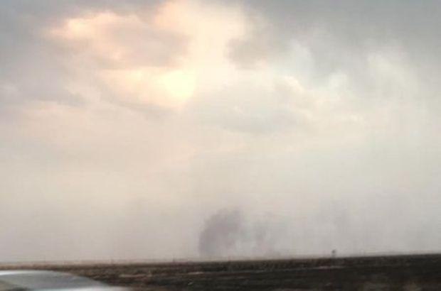 Terör örgütü Suriye sınırındaki petrolleri ateşe verdi
