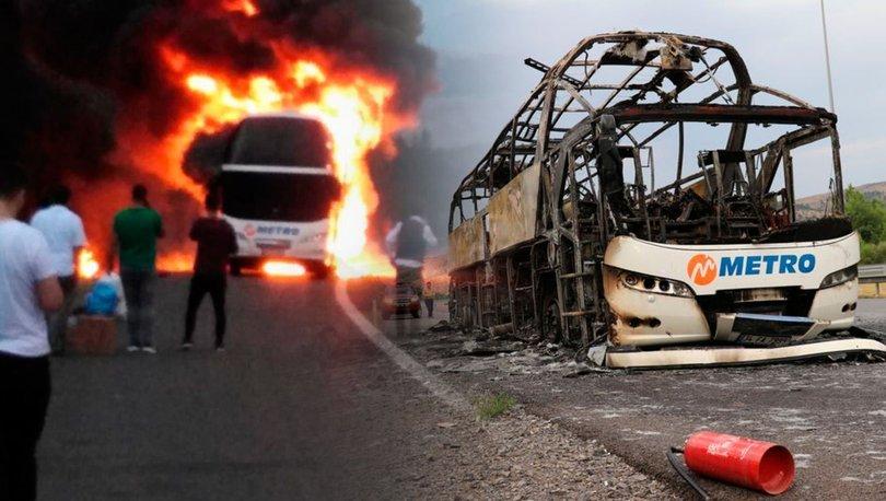 otobüs yangını