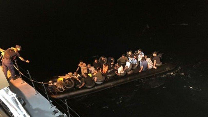 Ayvalık'ta 41 düzensiz göçmen yakalandı