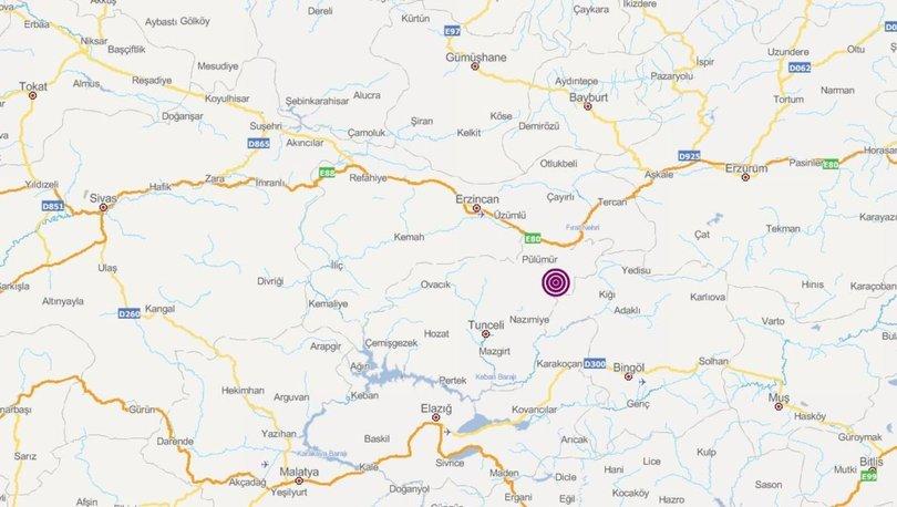 Son dakika! Tunceli'de korkutan deprem - 21 Ağustos son depremler