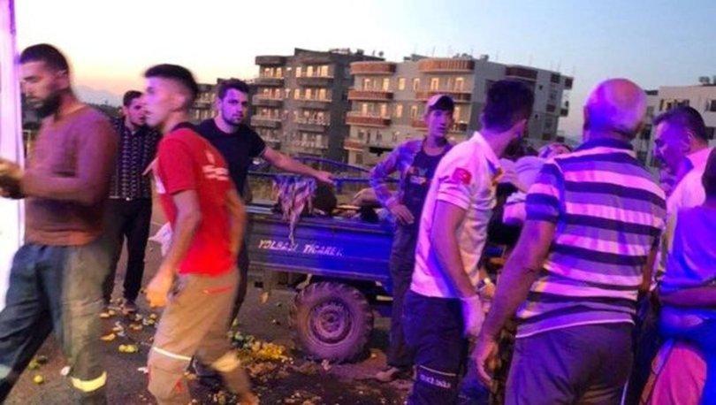 Siirt'te işçileri taşıyan tarım aracı devrildi! 13 yaralı