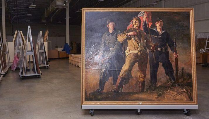 Fort Belvoir Askeri Üssü deposunda Nazi Almanya'sı sanat eserleri...