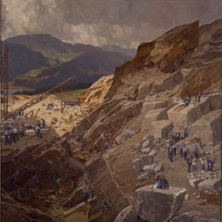 Hitler'in sevdiği tablolar mimar Albert Speer için taş ocakları çalışıyor.