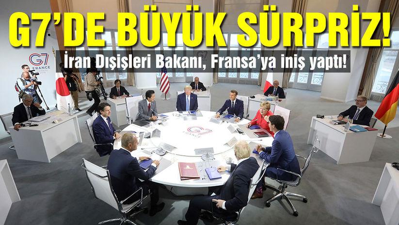 G7 zirvesinde sürpriz! İran Dışişleri Bakanı Fransada!