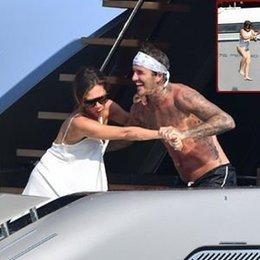Beckhamlar'ın deniz eğlencesi...