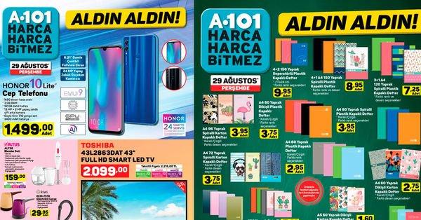 A101 29 Ağustos kırtasiye ve aktüel ürünler